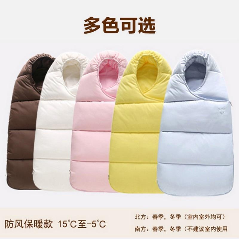 Baby sleeping Bag winter Envelope for newborns sleep thermal sack Cotton kids sleepsack in the carriage chlafsack Free shipping