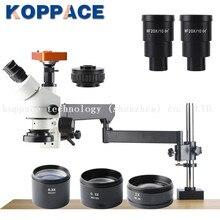 KOPPACE 2.1X-180X, 21MP Full HD 1080 P 60FPS HDMI промышленный микроскоп, 0.7X-4.5X зум-объектив, Тринокулярный стереомикроскоп