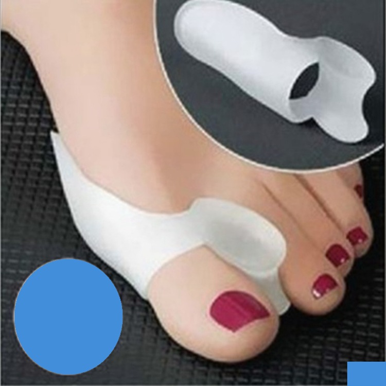feet care socks Silicone Gel foot fingers Two Toe Separator thumb valgus protector Bunion adjuster Hallux Valgus Guard wh ...