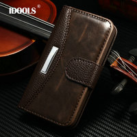 4S Fashion Business Luxury Classic Flip Case For Apple Iphone 4s 4 With Metal Cover Wallet