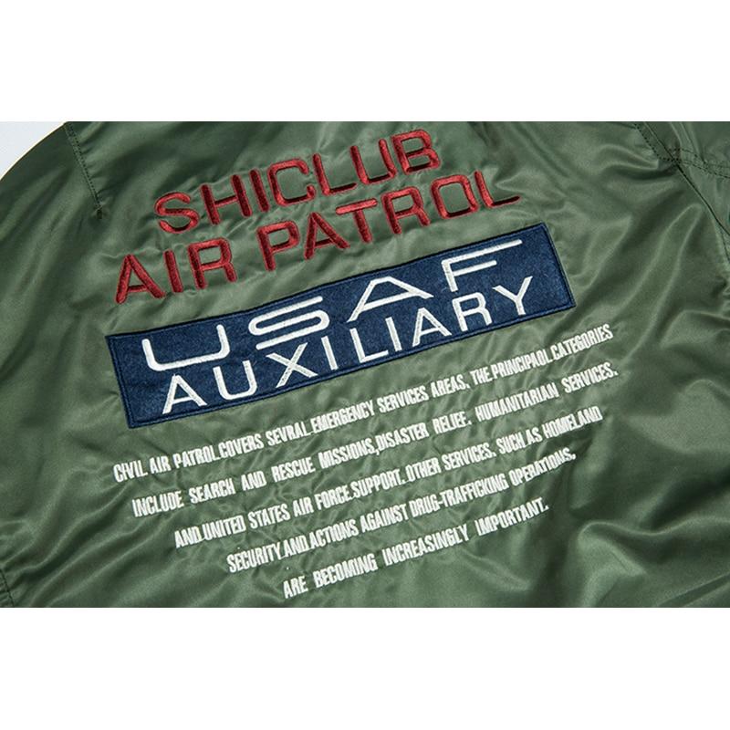 Aolamegs Bomber Jacket Men Badge Air Pilot Hooded Thin MA 1 Men 39 s Jacket Hip Hop Fashion Outwear Men Coat Bomb Baseball Jackets in Jackets from Men 39 s Clothing
