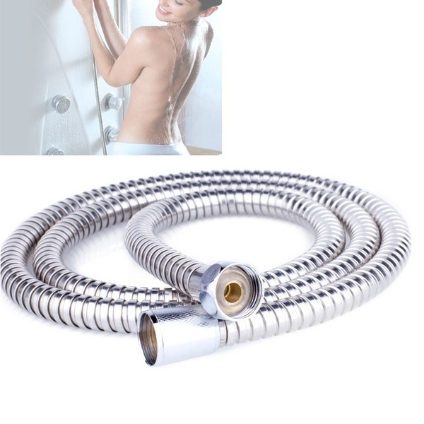 1m 1.5m 2m Meter Bathroom 201 Stainless Steel Explosion-proof Flexible Chrome Shower Tube Proof Hose Spring Tube Pull Pipe