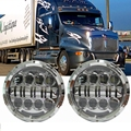 """7"""" LED Headlights For 05 Freightliner Century 95 Peterbilt 379/359 Old Style"""