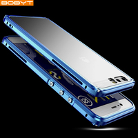 BOBYT For Huawei P10 Plus Case Cover Luxury Hard Metal Aluminum Transparent Plastic Phone Case for Huawei P10 Plus Back Cover