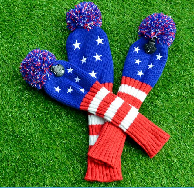Image 5 - 3pcs/set New 1#3#5# Knit Golf Headcover Drvier Fairway Head Cover Stars Shape Golf Headcovers with Number Tag-in Club Heads from Sports & Entertainment