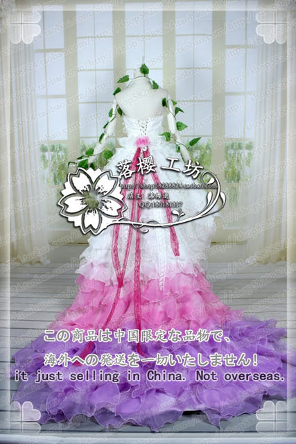 VOCALOID LUKA Luxury Party Dress Halloween Cosplay Costume Uniform Christmas White Wedding Dress Outfit Custom-made