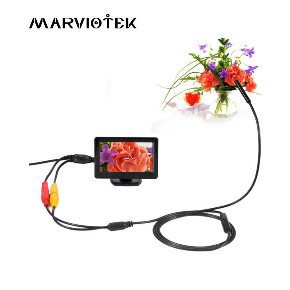 AV 5V 10mm dia IP66 Waterproof car Endoscope with 4.3 inch TFT Color Monitor 1m/5m/10m/15m/20m Length endoscope security Camera аксессуары bas ip av 01 v3