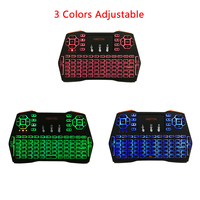 2 4G Wireless Backlight Keyboard 3 Colors Adjustable Touchpad 4 Languages Remote Control for Android TV