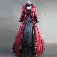 Vintage Victorian Lolita Dress Evening Party Bandage Lace Flounced Gothic Dress Halloween Cosplay Lolita Costumes Custom