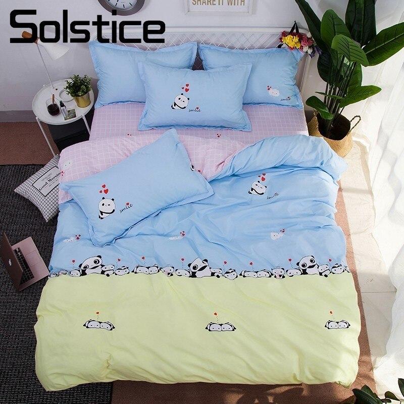 Solstice домашний текстиль панды прекрасный пододеяльник наволочки простыня малыш подростков для девочек и мальчиков постельного белья 3/4 шт. ... ...