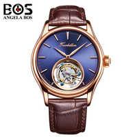 Relogio Masculino ANGELA BOS marque de luxe Original Tourbillon montre automatique hommes étanche mécanique montre-bracelet horloge homme