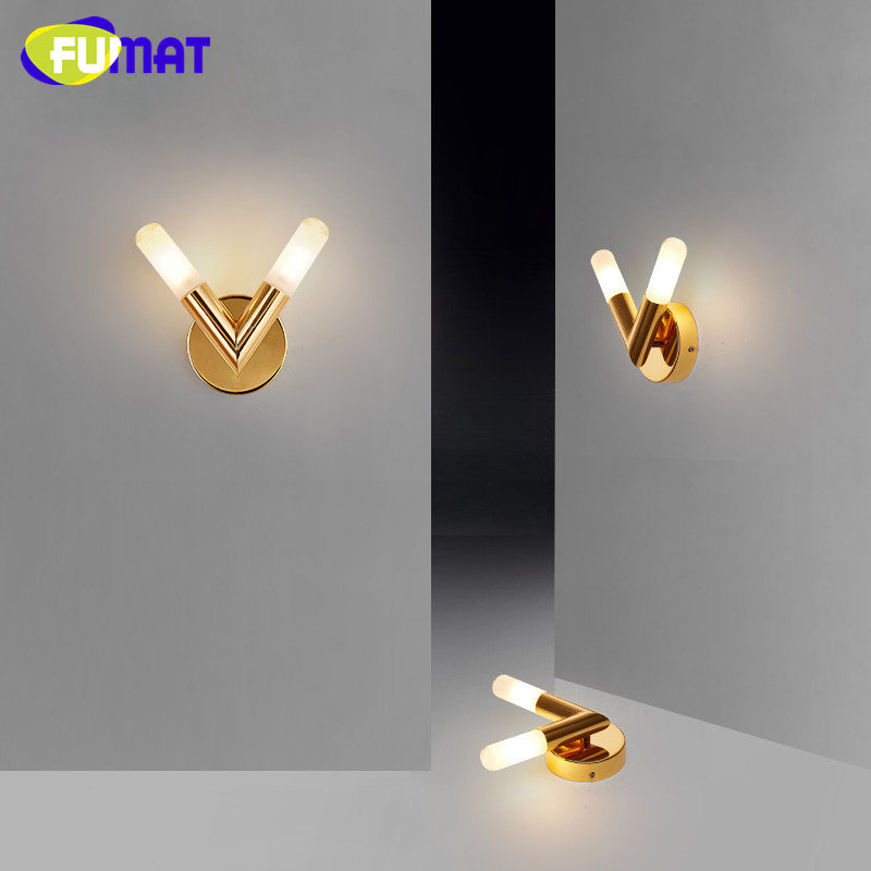 Luxury Modern Gold V Shape Wall Lamp Creative Simple Living Room Lighting Hotel Villa Corridor Lamp Art Bedside Wall Sconce 12w conch shape led wall lamp bedside lamp modern living room corridor hallway stairs lights pathway sconce lighting