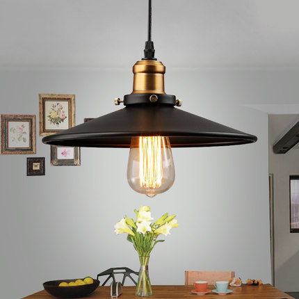 Edison Vintage Style Loft Industriel Rétro Pendentif Lampe Lumière E27 Titulaire Fer Restaurant Comptoir de Bar Grenier Librairie Lampe