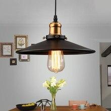Edison lámpara colgante estilo Loft Vintage Industrial, Retro, soporte e27, hierro, restaurante, Bar, mostrador, ático, librería