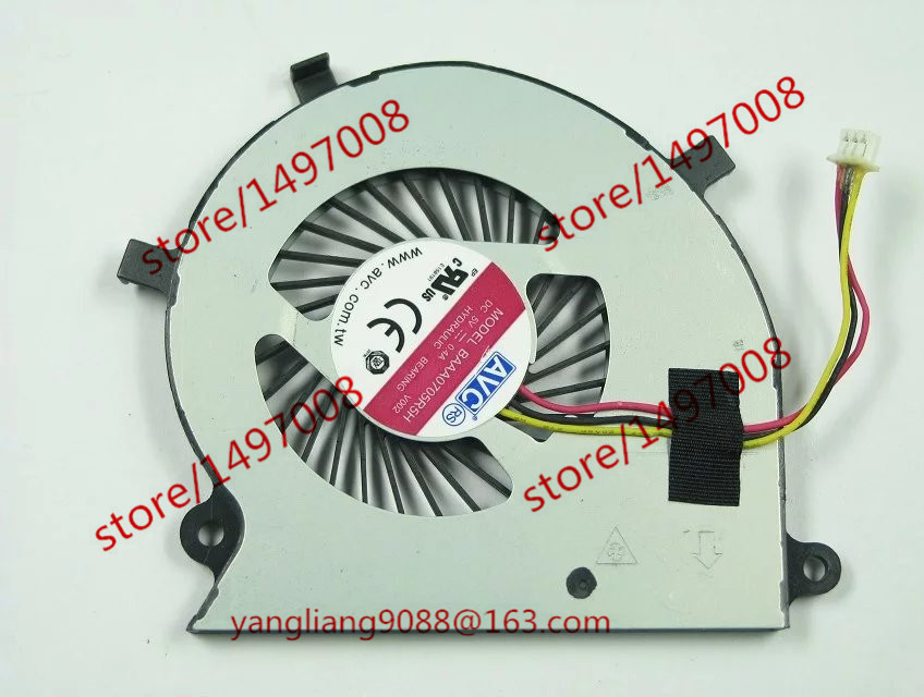 AVC BAAA0705R5H V002 DC 12V 0.4A 3-wire Server Laptop Fan for avc dssc0715r2l p002 dc 12v 0 3a 4 wire 4 pin connector 100mm 70x70x15mm server square cooling fan