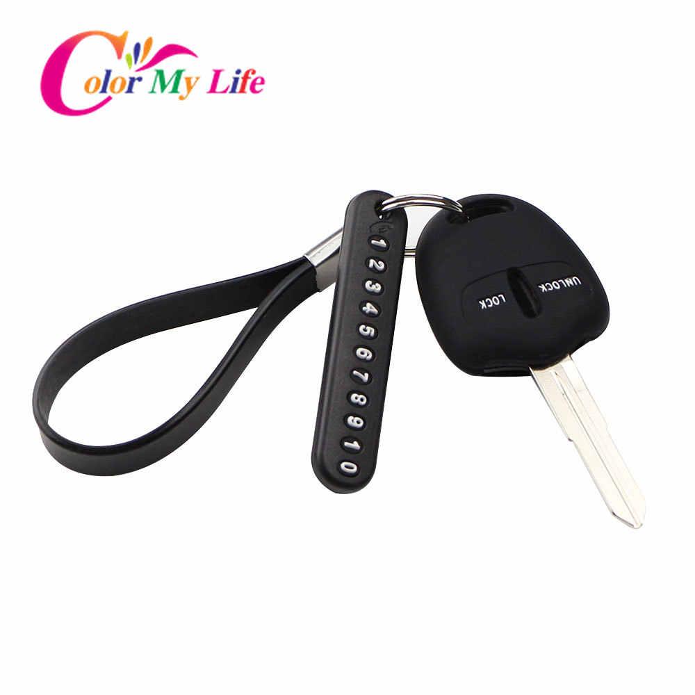 רכב מפתח שרשרת Keychain טלפון מספר כרטיס עבור פיג 'ו 307 308 3008 2008 408 508 4008 פיאט פונטו 500 500L בראבו רנו Captur