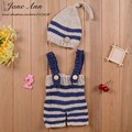 Lovely Handmade Crochet Knitted Beanie hat& Trousers Costume Outfit New Newborn Baby Photography Props