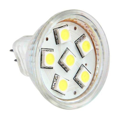 THGS GU4 MR11 DC 12V 6 SMD 5050 LED Light Bulb 6000K - White