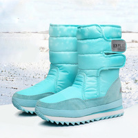 Kobieta buty ciepłe buty zimowe kobiety kolorowe śnieg boot 2018 moda damskie buty krótkie pluszowe okrągłe toe gumowe kostki buty w Buty do kostki od Buty na