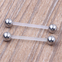 2018 Fashion New Surgical Steel Navel Rings Pregnant woman Soft Rod Navel Bars Fashion Belly Button Ring Piercing Body Jewelry(China)