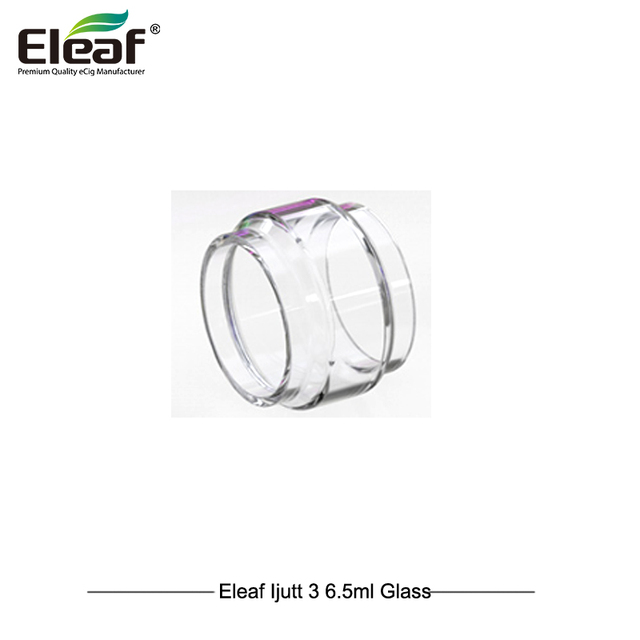 3pcs/lot Original Eleaf iJust 3 Glass Tube 6.5ml ELLO Duro Glass Tube for Electronic Cigarette iJust 3 Kit ELLO Duro Atomizer