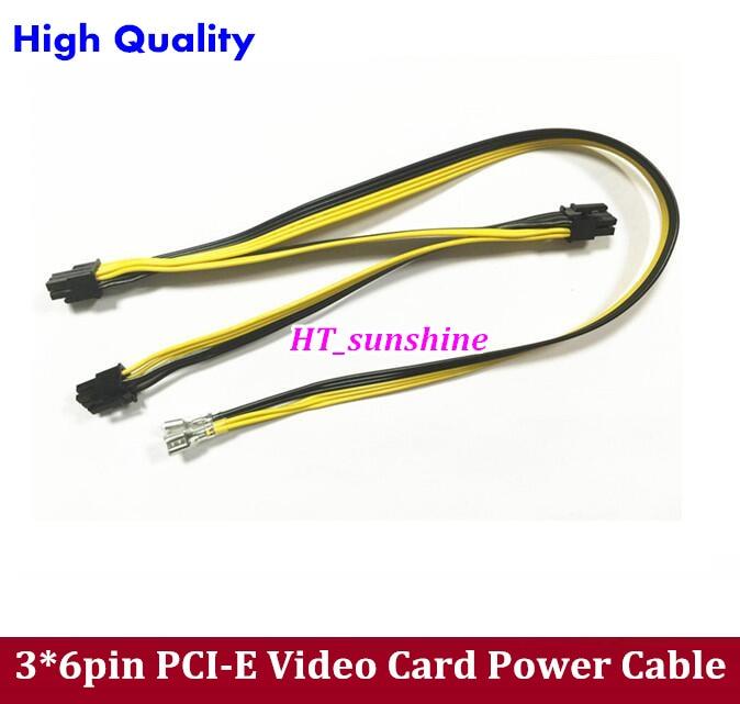 ⑥Envío libre 20 unids 3 * 6Pin pci-e tarjeta de video cable de ...