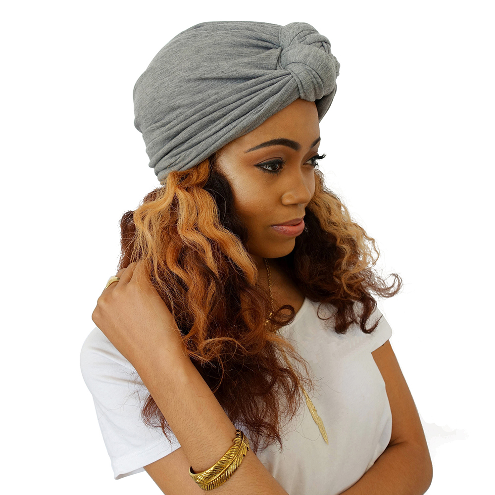 Fashion Women Hat BowKnot Head Turban Boho Style Cross Girls Headwrap Winter Autumn Warm Cap Hair Accessories Lady Beannies Hats