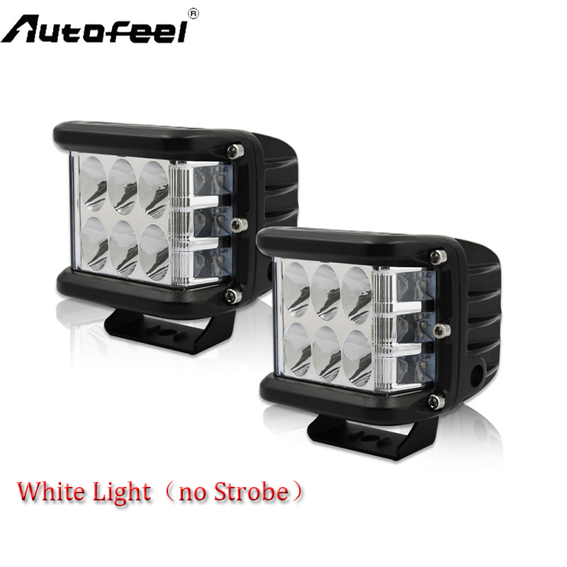 Autofeel 2PCS Dually-Side Shooter LED Lights Auto Power Plus Cube Side Shot Pods Off Road Light Pods Work Light Bar FOR ATV SUV