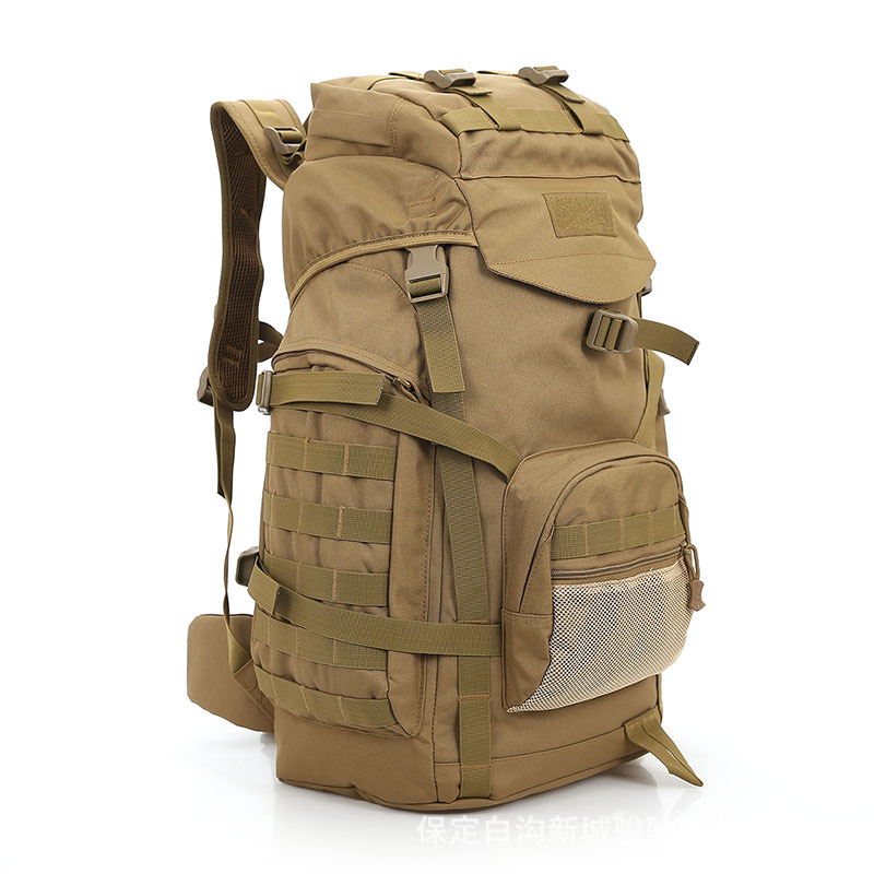 Fashion 60L Tactical Backpack Camping Mountaineering Backpack Military Bag Multi function Large capacity