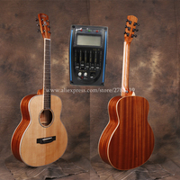 36 folk guitar acoustic guitar With Solid Spruce top /Mahogany Body With Full size Body,Electric guitarras with pickup tuner