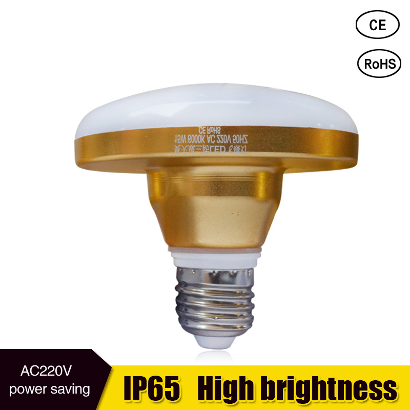 2017 led bulb E27 led lamp 15W 20W 24W 36w 55w ac 220v 230v 36W 55W R80 R95 R125 led light ip65 warm cold white light e27 umbrella bulb 24w 36w led bulb golden aluminum shell led lamp ac 110v 220v 240v led light smd5730 warm cold white light