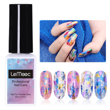 LEMOOC 8ml Nail Glue for Art Transfer Foil Holographic Adhesive Decal Starry Tips Manicure Tool Decorations