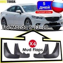4 ชิ้นรถMud FlapsสำหรับMAZDA 6 (GJ) atenza 2013 2017 2018 2019 Mudflaps Splash Guards Mud FLAP Mudguards Fender 2014 2015 2016
