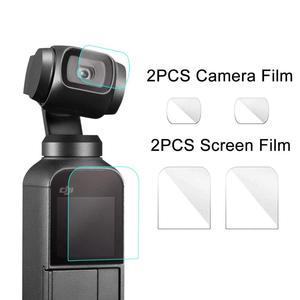 Image 1 - Osmo dji osmo cep aksesuarları ekran koruyucu cep filmler lens koruyucu Film aksesuarı 4K Gimbal kapak