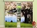 Свежие натуральные растения деревья затемненные шторы здоровые не загрязнения цифровой печати Красочные шторы для постельных принадлежно...