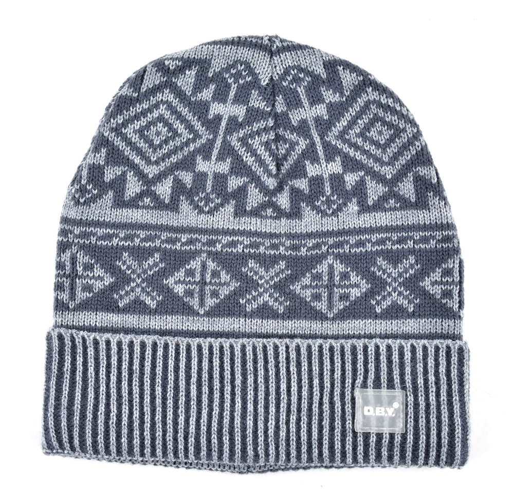 2018 Autumn And Winter Beanie Jacquard Cap Men\'s Skullies Bonnet ...