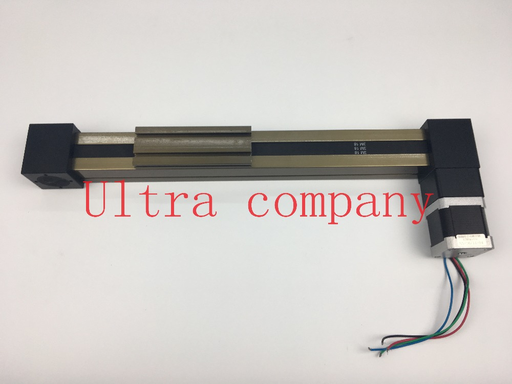 MF 3M Timing Belt Effective Stroke Lenght 200mm Linear Slide Module Guide Sliding Rail Systems +57 Nema 23 Stepper Motor CNC r165369410 rexroth ball rail systems cnc linear rail