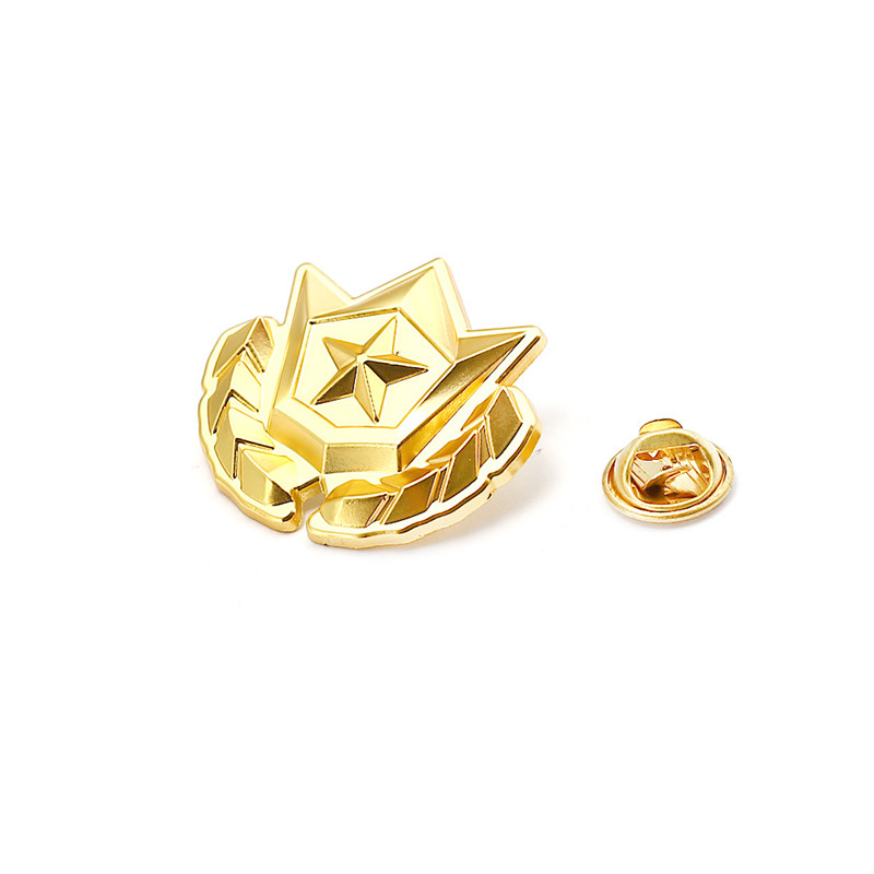 New Game  Gold Purple Brooches Metal Logo Battle Royale Sporty Pins Brooch Jewelry For Men Fans Fashion Hot riverdale