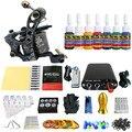 Solong Татуировки Новый Начинающий 1 Pro Machine Gun Татуировки Kit Питания Иглы Ручки совет 7 цветов набор чернил TK105-46