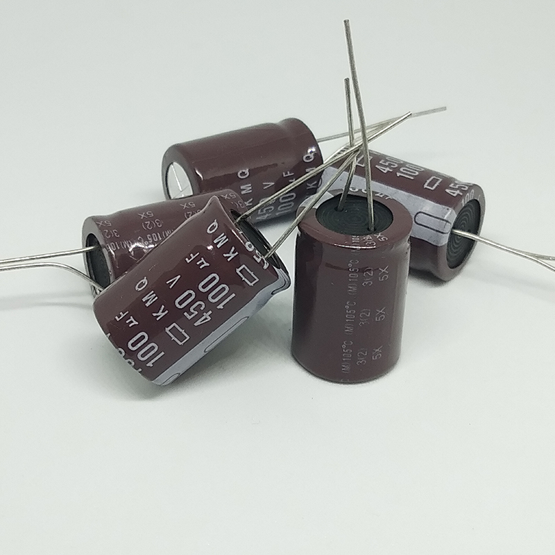 electrolytic capacitor Original 5 pcs/lot 450V 100UF 18MM * 25MM 100uf 450v KXG electrolytic capacitor ic ... (3)