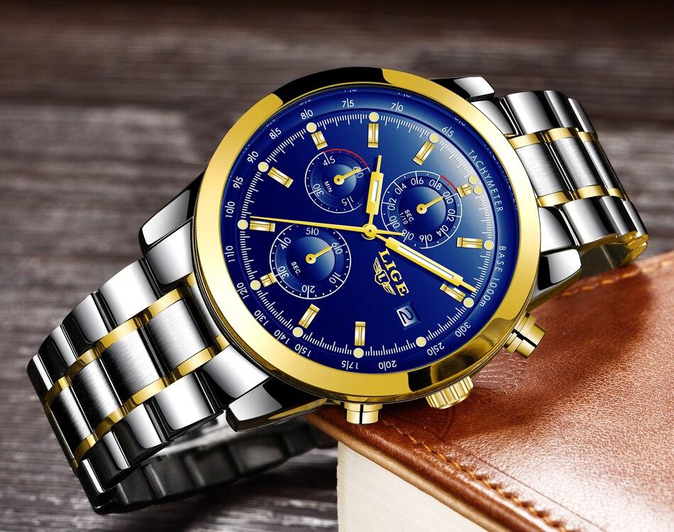 HTB1nT5qflfM8KJjSZFhq6ARyFXa5 - LIGE Mens Watches Top Brand Luxury Business Quartz Watch stainless steel Strap Casual Waterproof Sport Watch Relogio Masculino