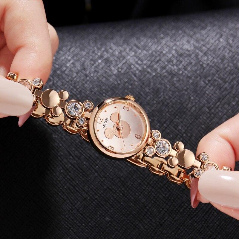 2018 Mickey Γυναικεία Πολυτέλεια Bling Rhinestone - Γυναικεία ρολόγια - Φωτογραφία 3