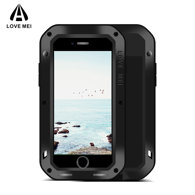 LOVE MEI Aluminum Metal Case For iPhone 7 8 7 Plus 8 Plus Armor Shockproof Life Waterproof Cover For iPhone7 8 7Plus 8Plus CapaLOVE MEI Aluminum Metal Case For iPhone 7 8 7 Plus 8 Plus Armor Shockproof Life Waterproof Cover For iPhone7 8 7Plus 8Plus Capa