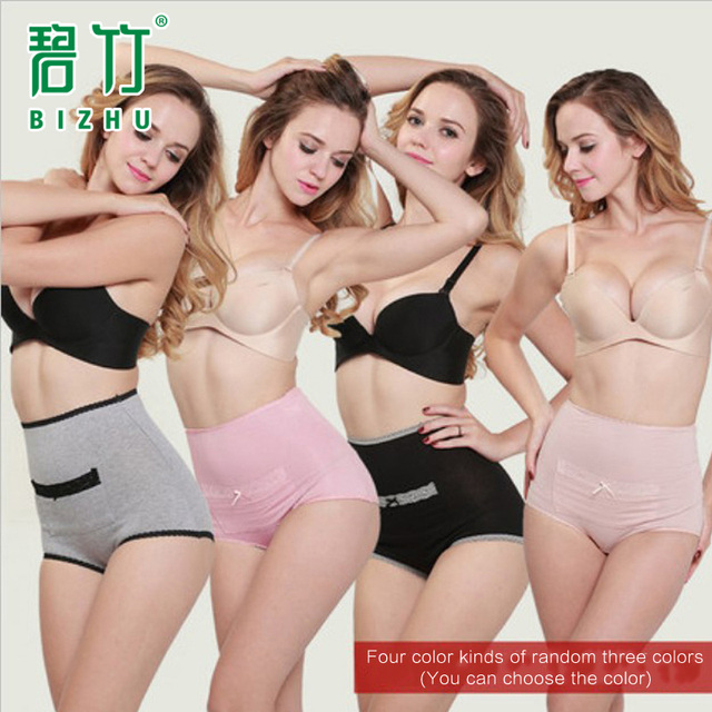 BIZHU 2016 Physiological Lace Briefs Menstrual Period breathable Underwear Health Seamless Women Panties tall waist underwear