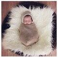 Manta De Piel sintética Cesta Embutidora de lanas de la Piel de Mongolia Fur accesorios de Fotografía Recién Nacido Apoyos de La Fotografía Fondo Estera alfombra 50X60 cm