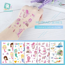New Arrival Mermaid Designs Tattoo Temporary Waterproof Fish Girl Princess Design Cartoon Small For Children Girls.
