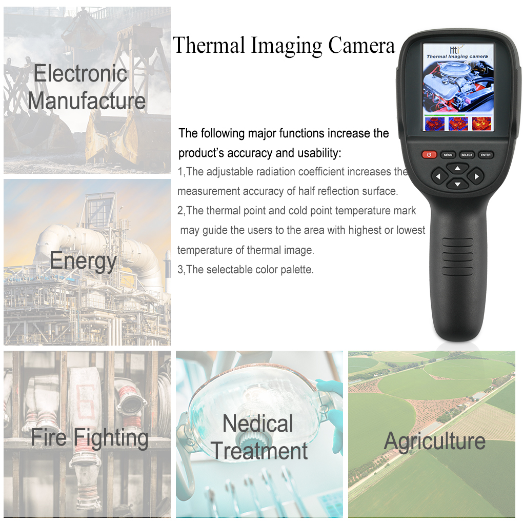 HT-02 Handheld Thermal Imaging Camera With Digital Display For Temperature Measuring 10