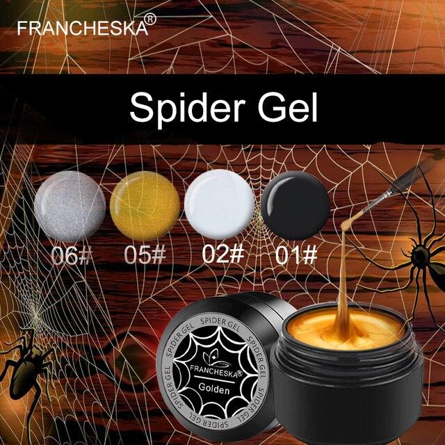 Francheska 8 мл паук гель лак для ногтей искусство УФ светодио дный Профессиональный Nail Краски УФ Цвет гель лак выбивает потянув провод паук гели