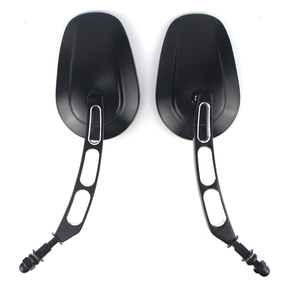 For Harley Sportster XL883 XL1200 Touring Motorcycle Rear View Side Rearview Mirror 8mm Road King Fatboy