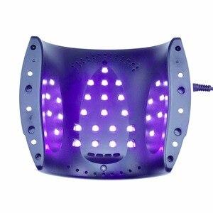 Image 5 - ネイルドライヤー 48 ワット uv ランプ虹 4 のための 30 個の led ニス乾燥速乾性ネイルマシンと足底